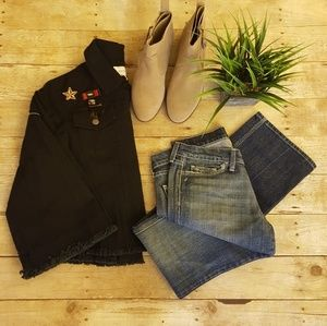 Anthropologie Black Military Jacket Guest Editor